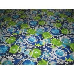 Tissu jersey aqua bleu vert