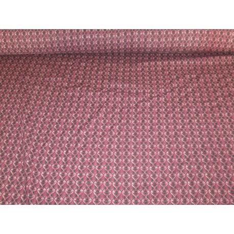 Tissu imprimé motifs bordeaux