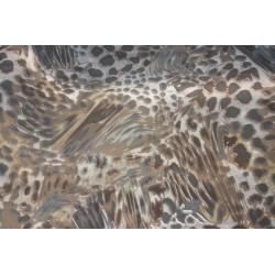 Tissu satiné léopard marron