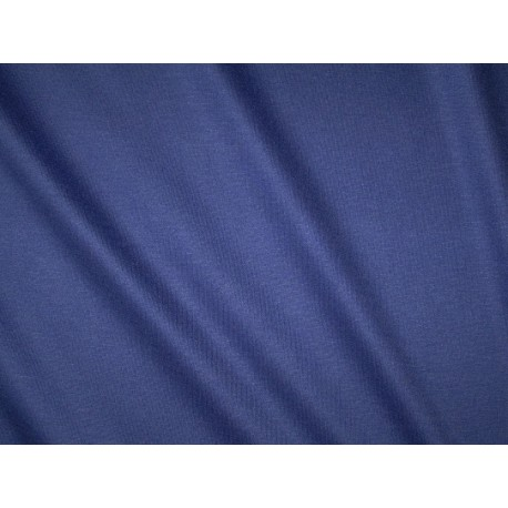 Jersey uni bleu smalt