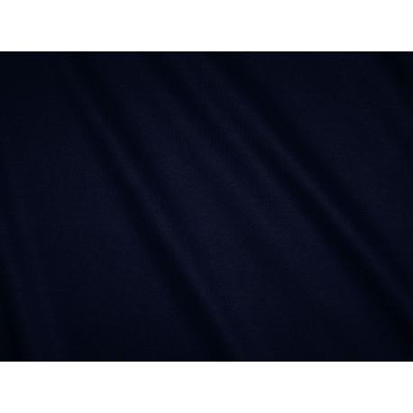 Tissu jersey uni bleu marine