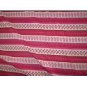 Jersey rayures et motifs rose