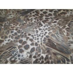 tissu camouflage marron bleu