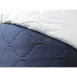 Tissu matelassé marine et blanc