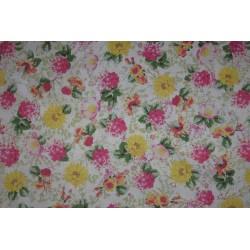 tissus fleurs couleurs vives