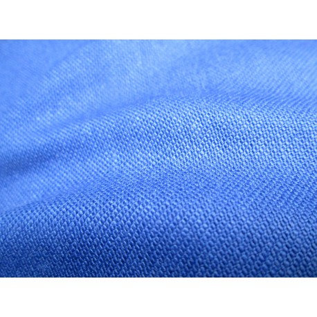 tissu ignifugée bleu gitane