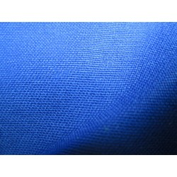tissus polycoton bleu saphir