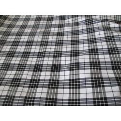 Tissu tartan noir et blanc