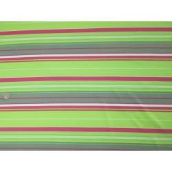 Tissu rayures vert et rose