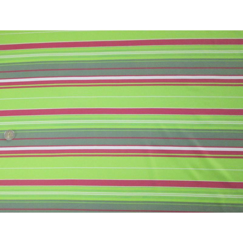 tissu rayures vert et rose. Black Bedroom Furniture Sets. Home Design Ideas