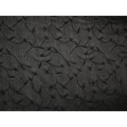 tissu noir fleurs ajouré