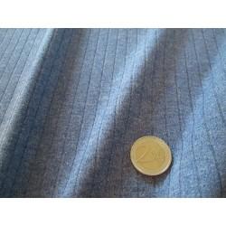 Tissu uni gris bleu tramé