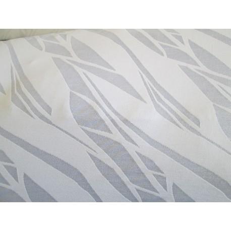 tissu  ajouré blanc
