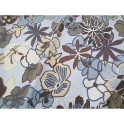 Jersey fleurs fond gris