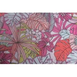 tissu grosses  fleurs multicolore
