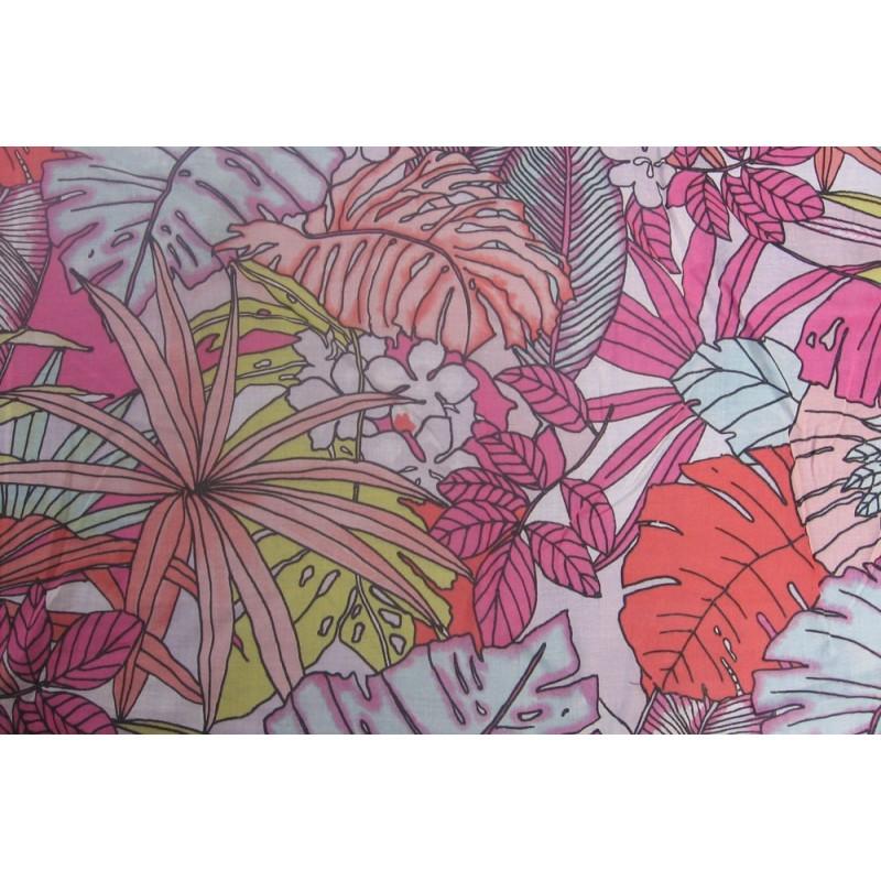 tissu grosses fleurs multicolore. Black Bedroom Furniture Sets. Home Design Ideas