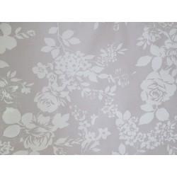 tissu fleurs blanc