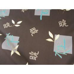 Tissu motifs chinois marron