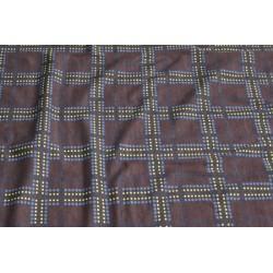 Tissu jersey carreaux marron