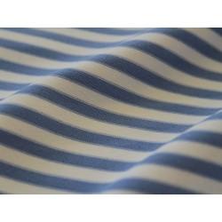 jersey rayé bleu et blanc