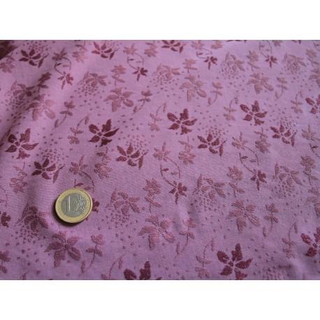 tissu jersey fleurs violet