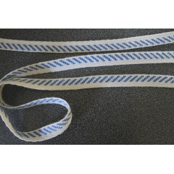 galon diagonale bleue