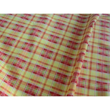 Tissu tartan jaune rouge