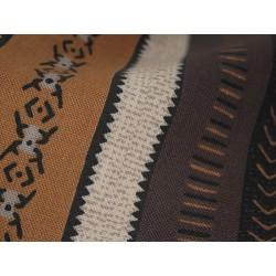 Coupon tissu formes géométriques marron