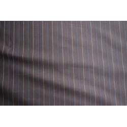 Tissu imprimé marron rayures jaune et bleu