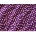 tissu triangles violet mauve