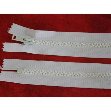 Fermeture non-séparable blanche 60cm