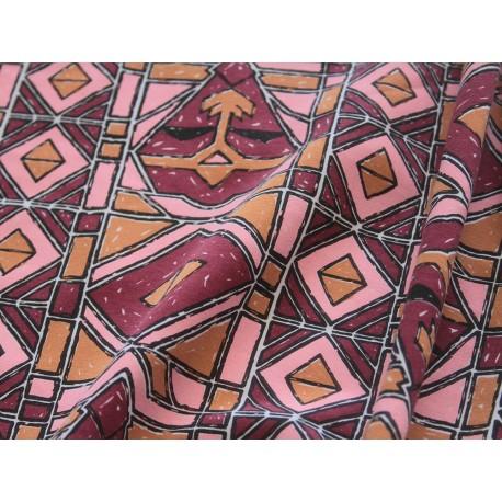 jersey africain bordeaux marron rose