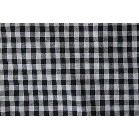 tissu vichy noir et gris