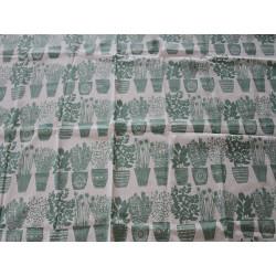 Coupon lin motifs basilic vert