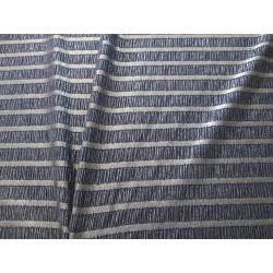 Tissu jersey rayures or crépé