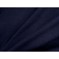 Tissu jersey uni bleu nuit