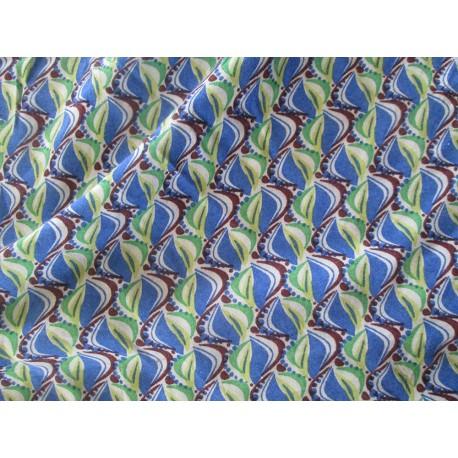 Tissu africain vert bleu