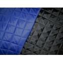 Tissu matelassé noir et bleu