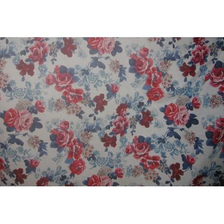 tissu fleurs couleurs vives