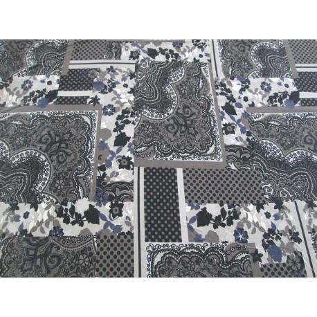 Jersey fleurs patchwork