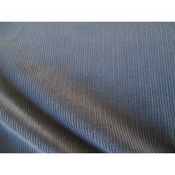 Tissu velours milleraies marine