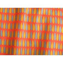 tissu rétro orange