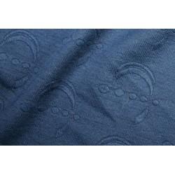 Tissu jersey lune brocart bleu