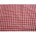 tissu vichy rouge