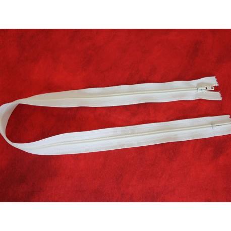 Fermeture non-séparable blanche 50cm