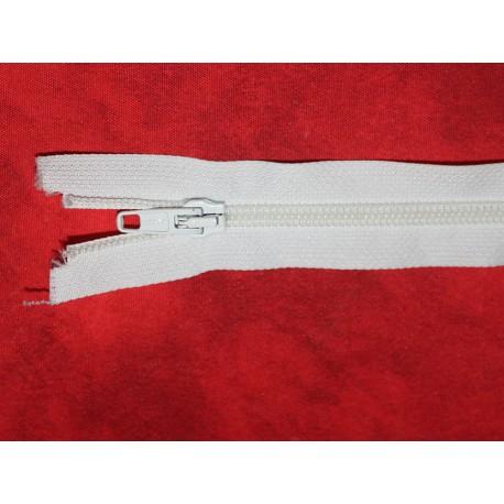Fermeture séparable blanche 40cm